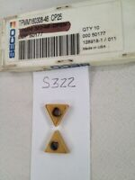 8 NEW SECO TPMM 322-46 CARBIDE INSERTS. GRADE: CP25. FACTORY PACKED {S322)