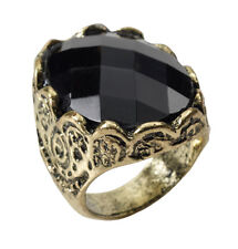 BLACK #STONE MEDIEVAL ROYAL FAMILY RING FANCY DRESS LORD OUTFIT ACCESSORY