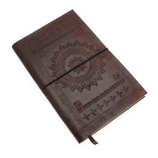 Fair Trade Handmade Large Chocolate Brown Embossed Leather Journal 2nd Quality