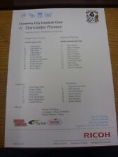 29/03/2013 Colour Teamsheet:  Coventry City v Doncaster Rovers  . Unless previou