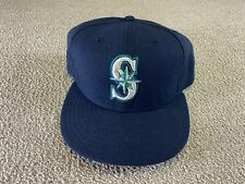 Seattle Mariners New Era Fitted Hat 7 1/2 59Fifty Blue Green Cap Baseball jersey