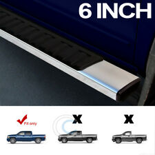 "6"" OE STYLE ALUMINUM SIDE STEP RAIL RUNNING BOARDS 07+ SILVERADO/SIERRA CREW CAB"