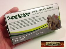 M00370 MOREZMORE Super Sculpey FIRM Sculpting Model Grey Polymer Clay 1 lb P20