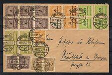 Deutsches Reich,schöner Brief Hochinfla mit Massenfrankatur 30.11.1923