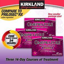 Kirkland Signature Omeprazole 20 mg, 42 Tablets Treats Frequent Heartburn