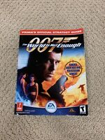 007 the World is not Enough Official Prima Strategy Guide Book N64 PlayStation