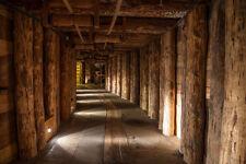 FotoTapete Salzbergwerk Nr. 289 Größe:400x280cm 3D Tapete Tunnel Berg Holz NEU