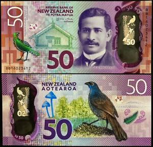 NEW ZEALAND P194* 50 DOLLARS POLYMER* ND2015* UNC GEM* USA SELLER