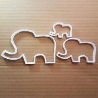 Elephant Animal Mammoth Shape Cookie Cutter Dough Biscuit Pastry Fondant Sharp