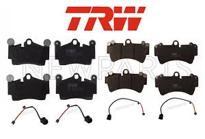 For Audi Q7 Volkswagen Touareg Rear & Front Disc Brake Pad Set TRW+Sensors KIT