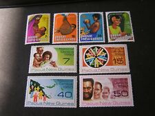 PAPUA NEW GUINEA, SCOTT # 508-511(4)+517-520(4) 1979-80 2-SETS FAMILY ISSUE MNH