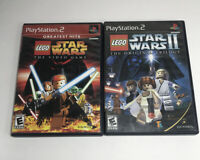 Lego Star Wars 1 and II Bundle Lot Of 2 PlayStation 2 PS2 Games Complete CIB