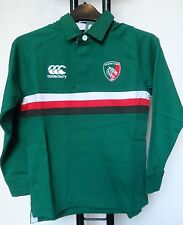 LEICESTER TIGERS 2013/14 L/S CLASSIC HOME JERSEY BY CANTERBURY SIZE 8 YEARS NEW