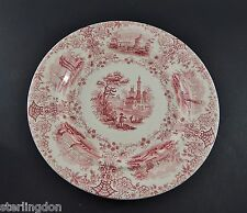 Antique 19th C.William Ridgway Stafforshire Pink Mulberry Marmora Pattern Plate