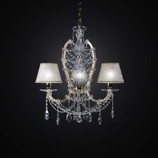 LAMPADARIO IN CRISTALLO CLASSICO ORO 3 LUCI BGA 2434-3 DESIGN SWAROVSKY