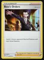 Pokemon Card Boss's Orders Giovanni 154/192 Holo Rare Rebel Clash NM/M