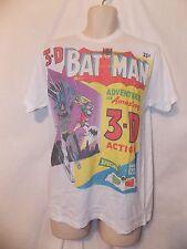 mens comic book cover batman t-shirt L nwt 3D white