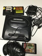 Sega Genesis Console System Games Lot Street Fighter Football Shaq Fu
