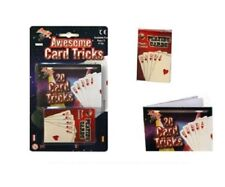 20 Magic Card Tricks Pack of Plastic Coated Playing Magic Show cards