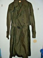 US Army 1967 Mans GRN 274 Raincoat Cotton Nylon Quarpel Vietnam War Military 40L