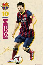 Poster FC BARCELONA - Lionel Messi - Retro / Vintage 2013/14 NEU 58180