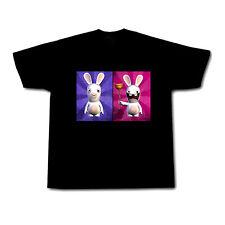 RAYMAN RAVING RABBIDS Mens Black t-shirt!