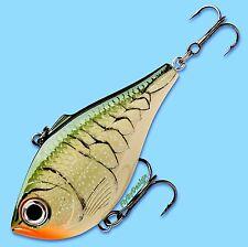 "Rapala 2"" Olive Green Craw Rippin' Rap Loud Rattling - Vibrating Fishing Lure"