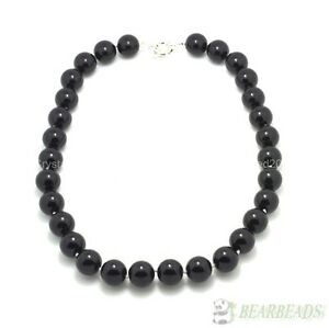 Top Quality Czech Glass Pearl Round Beads Necklace 18 Inches Hand Knotted Pick
