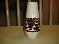 Vintage Sioux Pottery Rapid City South Dakota Vase Signed Garnett SPRCSD