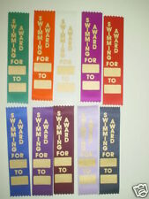 SWIMMING AWARD RIBBONS,KIDS FUNDAY, PARTICIPATION
