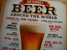 HOW TO ORDER A BEER AROUND THE WORLD Beer Mug Bar Pub Tavern Decor Sign NEW
