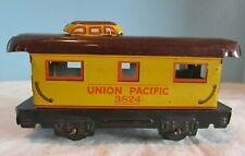 Vintage Yellow Union Pacific 3824 Caboose Metal O Gauge Train Marx