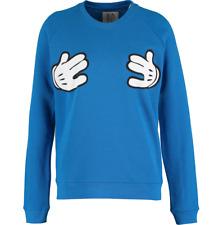 BNWT Zoe Karssen Bleu Mickey Mouse Cartoon MAIN MOTIF Pull Pull Taille M
