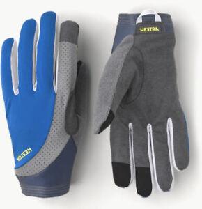 hestra apex reflective bike gloves royal blue bicycle Size 10