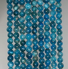 4MM APATITE GEMSTONE GRADE A  ROUND 4MM LOOSE BEADS 15.5""