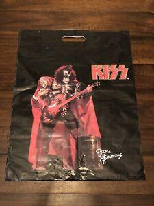 Vintage KISS Gene Simmons Australian Merch Aucoin Bag 1980 Unmasked Tour Rare