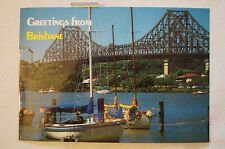 Greetings from Brisbane - Australia - Collectable - Vintage - Postcard.