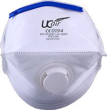 Uci Ucfh-p2v horizontal Ffp2v doblez plano respirador mascarilla polvo - caja de