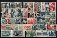PP135468/ FRANCE – YEARS 1952 - 1956 USED SEMI MODERN LOT – CV 190 $