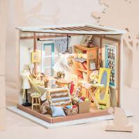 Rolife DIY Nähzimmer Puppenhaus 1:24 Miniatur Kits Modell Spielzeug für Mädchen