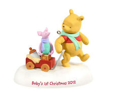2012 Hallmark BABY'S FIRST CHRISTMAS Classic Pooh Piglet Ornament