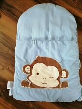 zCush Baby Nap Mat Monkey Blue