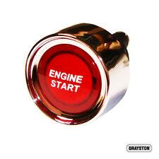 Presione el botón rojo Iluminado Interruptor de arranque 12v de deportes de motor comienzo del motor
