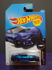 "2017 Hot Wheels 2017 CAMARO ZL1 in BLUE. HW CAMARO ""50"" series 1/5. Long Card"