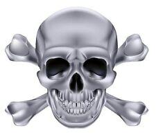 Autoaufkleber Sticker Totenkopf Skull silberfarben NEU Aufkleber