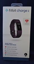 NEW!!! Fitbit Charge 2 Heart Rate + Fitness Wristband - Large - Plum