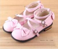 Lolita VINTAGE Japanese Princess Mori Girl Sweet Bow Girls Kawaii Shoes Sz @SY