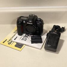 Nikon D100 6.1MP Digital SLR Camera Body DSLR Charger Battery EN-EL3 Manual