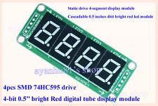 74HC595 0.5'' 4Bit 4-Digit LED Display Module Red Digital Tube for AVR Arduino