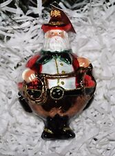 "Santa Cowboy Art Studio Glassware blown Ornament/Figurine Large Rare Poland 5.5"""